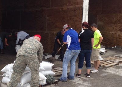 Oakwood Ohio, Sandbagging Efforts